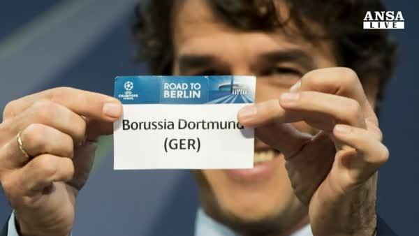 Champions: la Juve pesca il Borussia