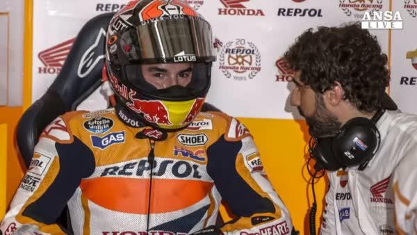 Moto: Malesia, Marquez in pole, sesto Valentino Rossi