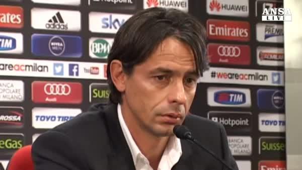 Inzaghi:  Presto per giudicare il Milan