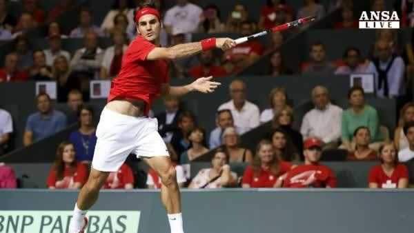 Davis: troppo Federer, Svizzera in finale